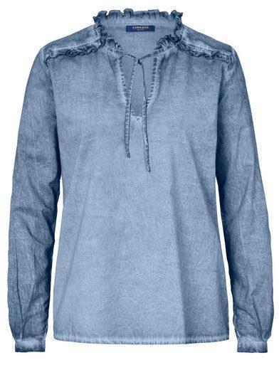 Conleys Blue Bluse mit Wasch-Effekten