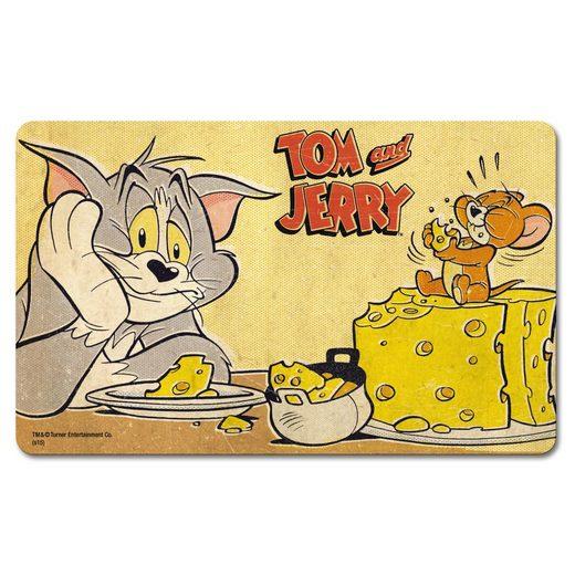 LOGOSHIRT Frühstücksbrettchen mit tollem Motiv »Tom und Jerry – Cheese«