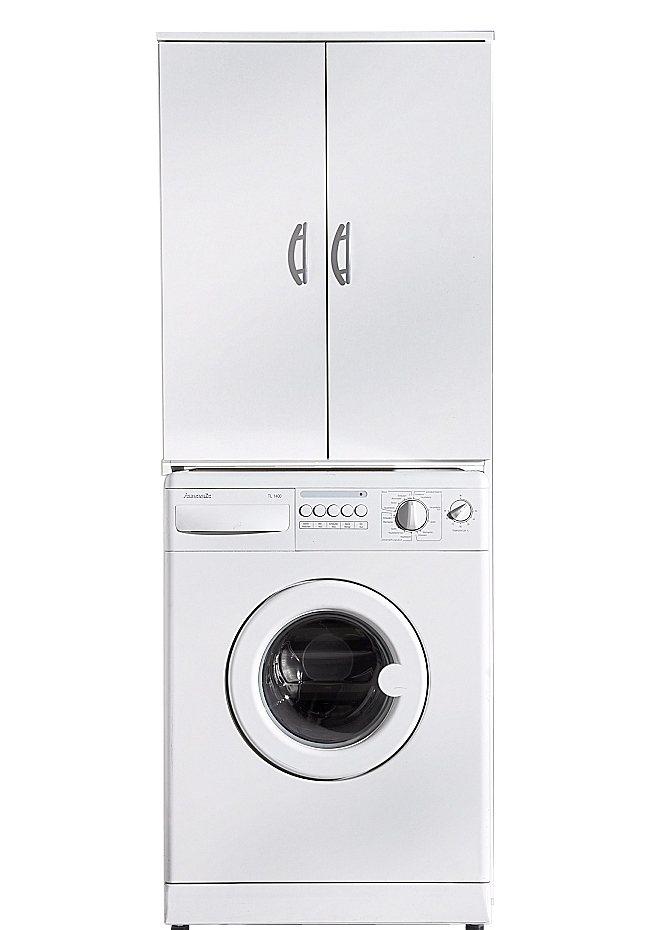 Waschmaschinenüberbau, 2 Türen in buchefarben