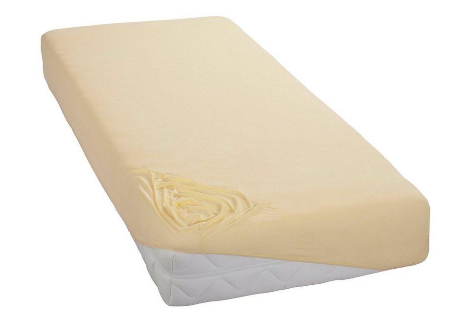 Spannbettlaken, my home, »Jersey«, mit Rundumgummizug in vanille