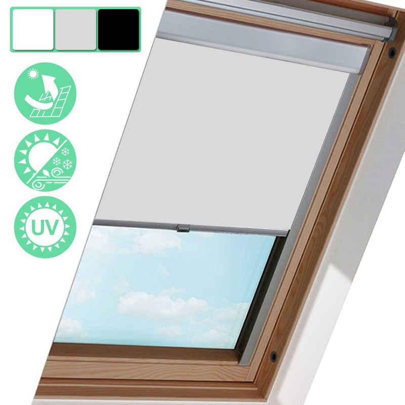 Dachfensterrollo »Verdunkelungsrollo Dachfensterrollo 100% Verdunkelung 3 Farben Fenster Thermo-Rollo für GGL GGU GHL für Velux«, Einfeben