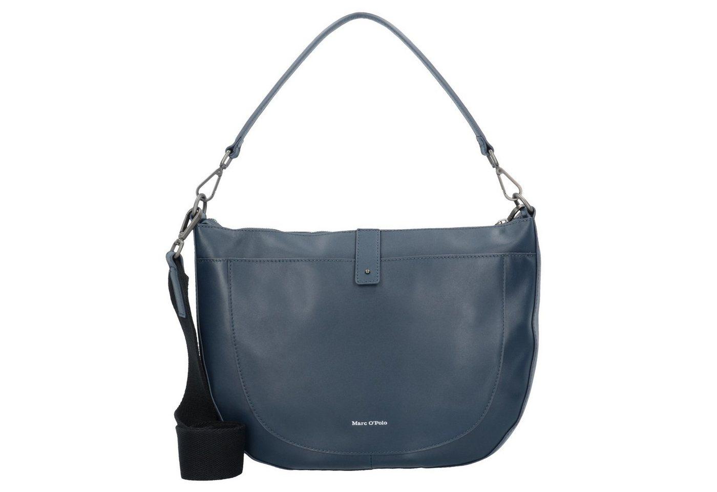 Damen Marc O Polo Eightyfive Schultertasche Leder 35 cm blau | 04059184021314