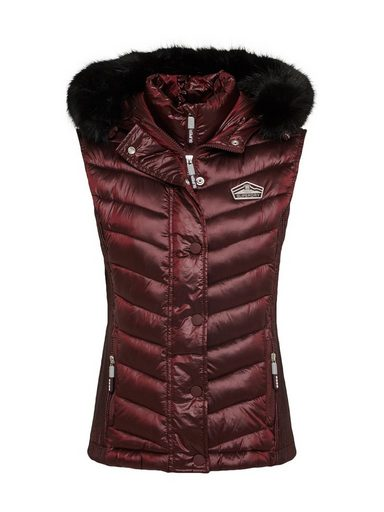 Superdry Steppweste »LUXE CHEVRON DOUBLE ZIP VEST«
