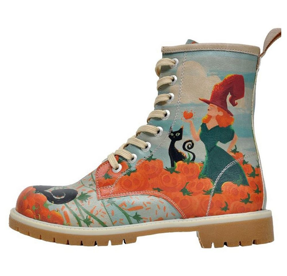 Damen DOGO Pumpkin Witch Bootsschuh Vegan blau   08680544160808