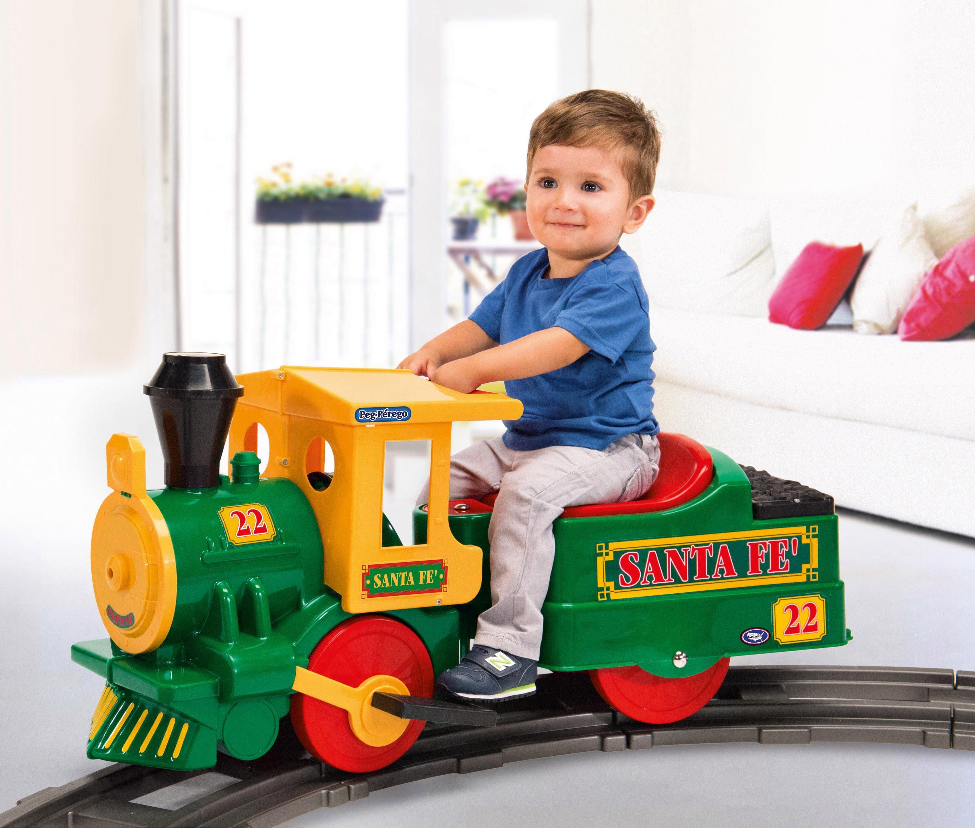 Peg-Pérego Starterset Elektro-Eisenbahn für Kinder, »Santa Fe Train - 6V«