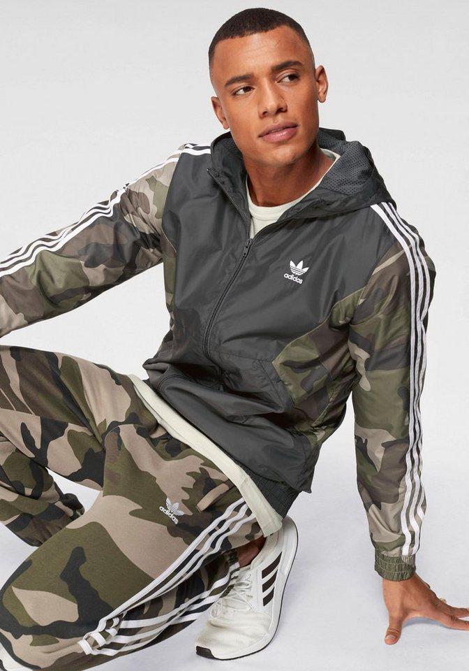 Herren adidas Originals Windbreaker CAMO WINDBREAKER schwarz | 04060507290973