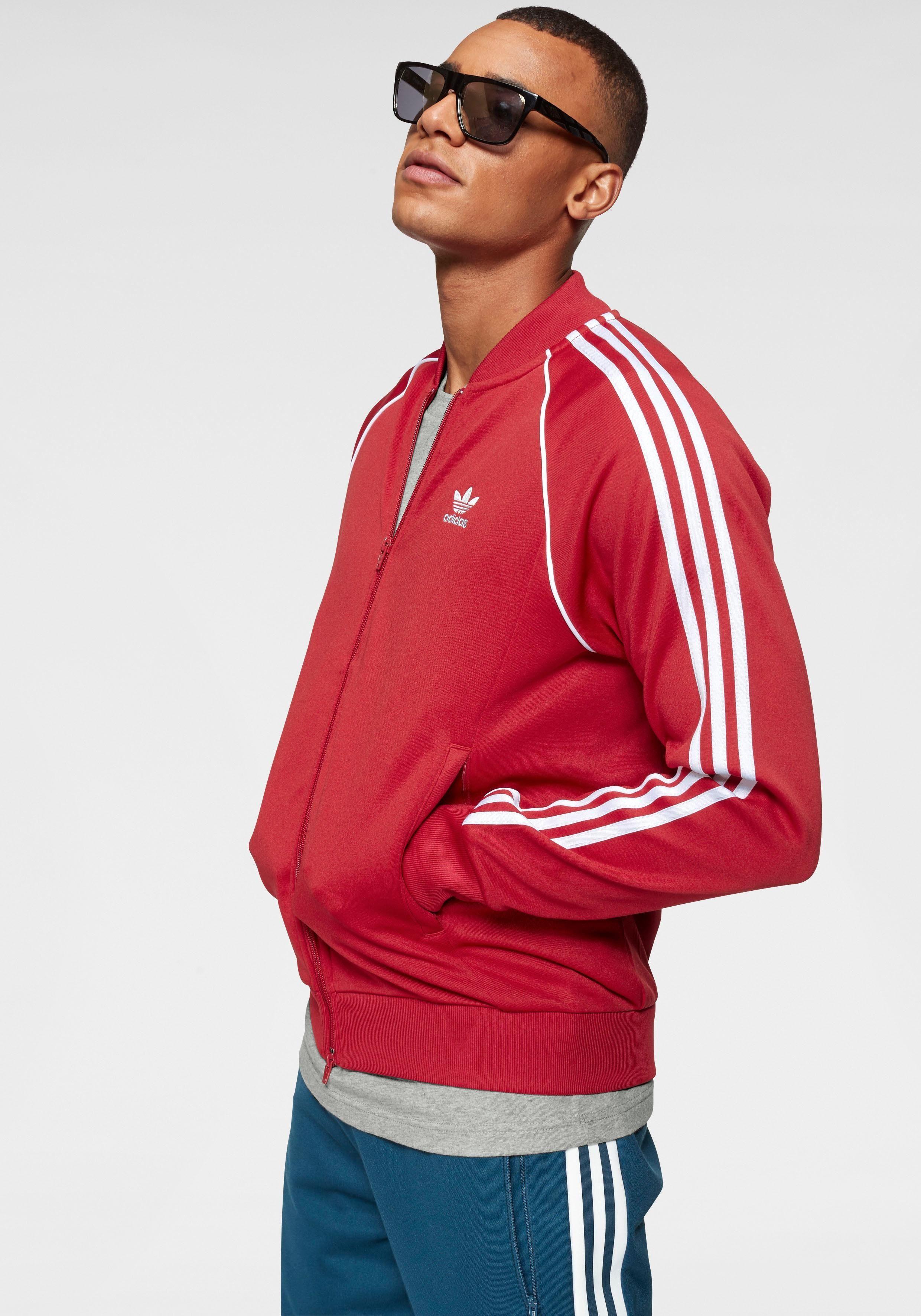 Adidas Originals Star Auf »super Den ÄrmelnLogostickerei Online Tracktop«Applizierte Streifen Kaufen Trainingsjacke fbvIY6y7g