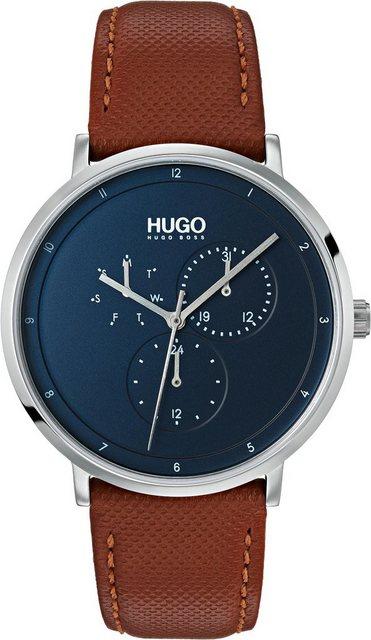 HUGO Multifunktionsuhr »Guide, 1530032« | Uhren > Multifunktionsuhren | Braun | HUGO
