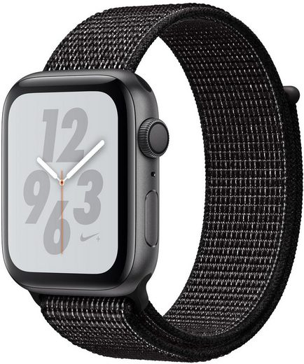Apple Nike+ Series 4 GPS, Aluminiumgehäuse mit Nike Sportarmband Loop 44mm Watch (Watch OS 5)