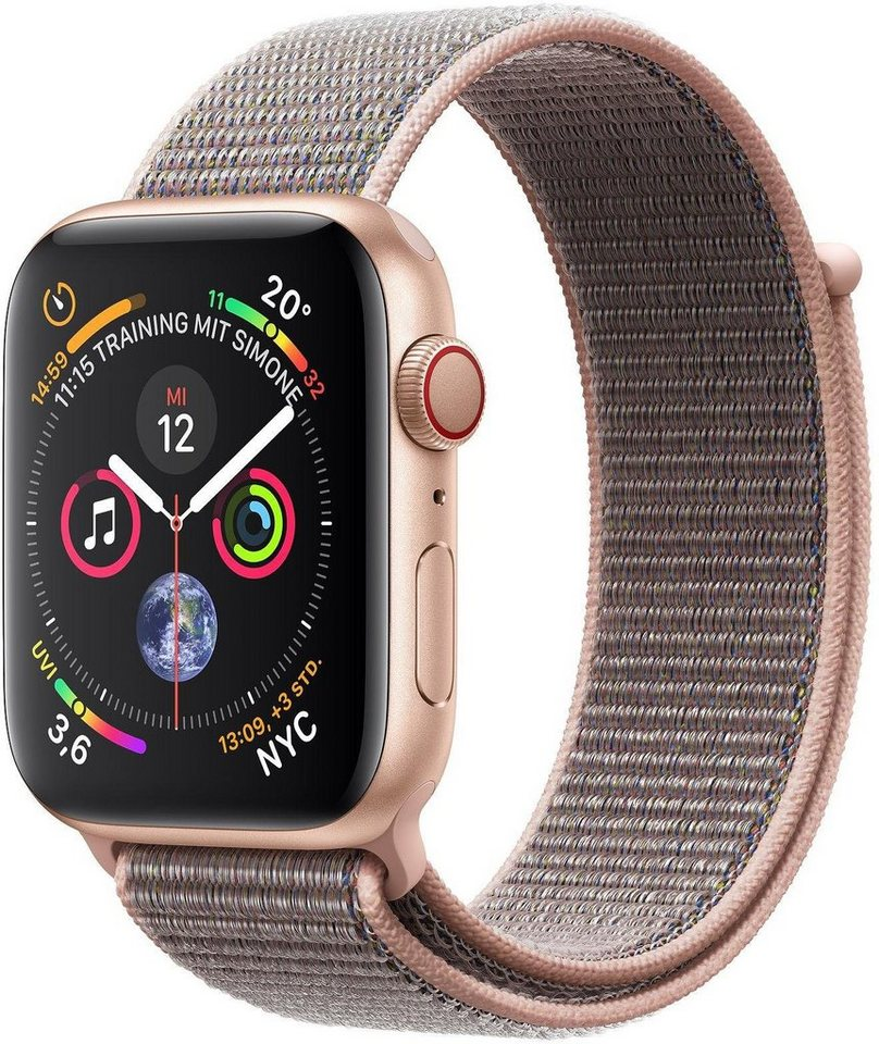 Smartwatches - Apple Series 4 GPS Cellular, Aluminiumgehäuse mit Sportarmband Loop 44mm Watch  - Onlineshop OTTO