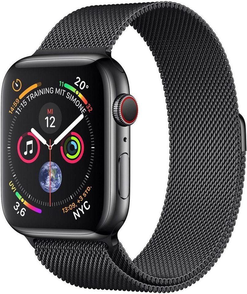 Smartwatches - Apple Series 4 GPS Cellular, Edelstahlgehäuse mit Milanaise Armband 40mm Watch  - Onlineshop OTTO