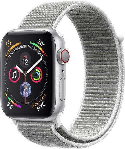 Apple Series 4 GPS + Cellular, Aluminiumgehäuse mit Sportarmband Loop 40mm Watch (Watch OS 5)