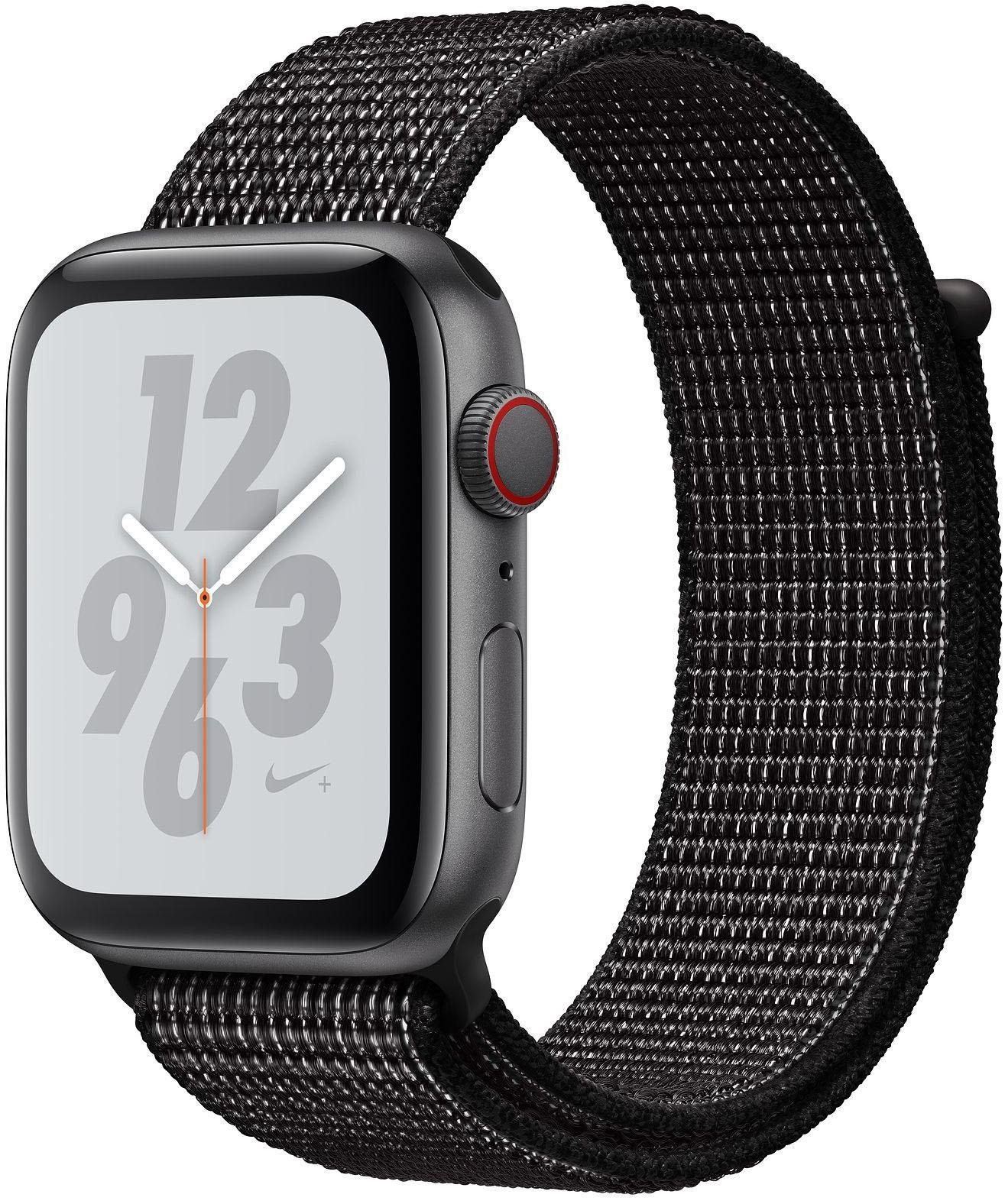 Nike+ Series 4 GPS + Cellular, Aluminiumgehäuse mit Nike Sportarmband Loop 40mm Watch (watchOS 5)
