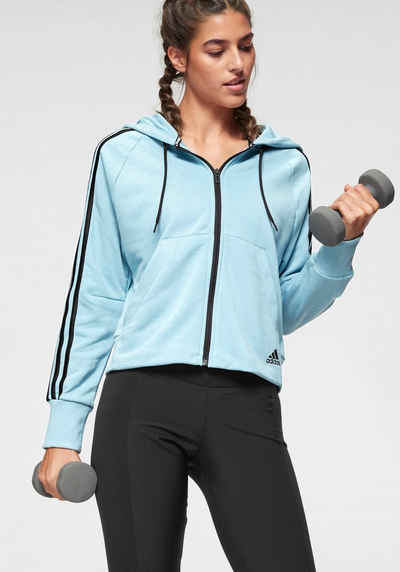 Adidas Performance Funktions-kapuzensweatjacke »own The Run Hoodie« Green