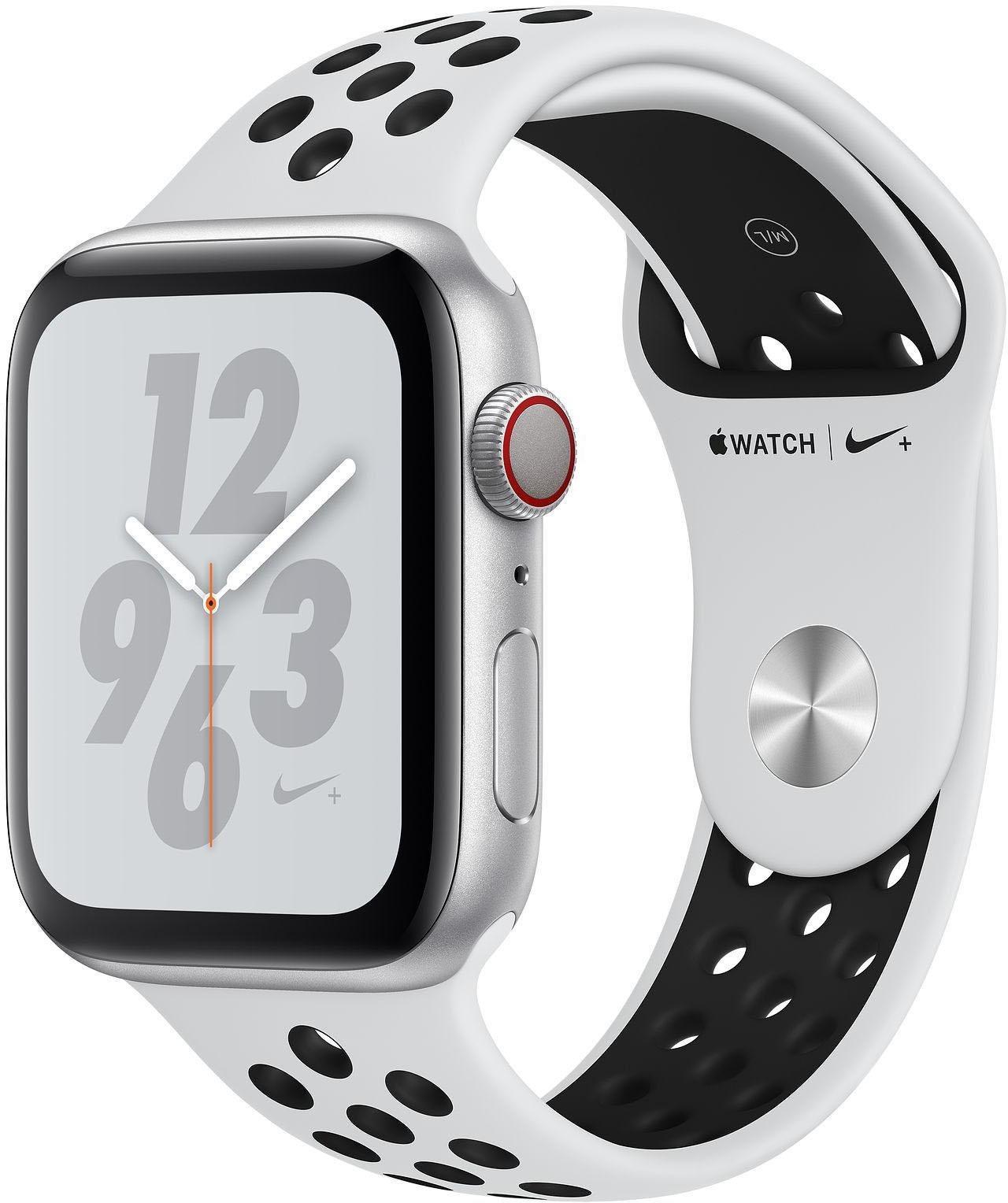 Nike+ Series 4 GPS + Cellular, Aluminiumgehäuse mit Nike Sportarmband 44mm Watch (watchOS 5)