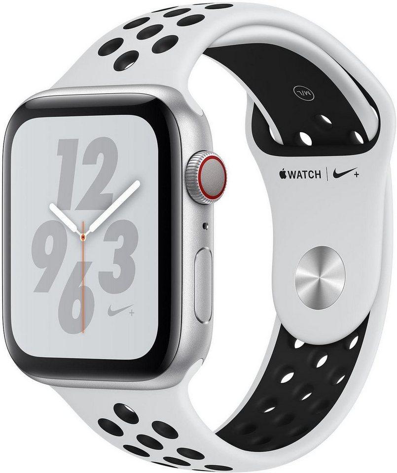 Smartwatches - Apple Nike Series 4 GPS Cellular, Aluminiumgehäuse mit Nike Sportarmband, 40mm Watch (watchOS 5)  - Onlineshop OTTO