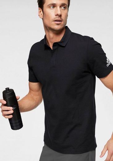 adidas Performance Poloshirt »MH PLAIN POLO« mit versteckter Knopfleiste