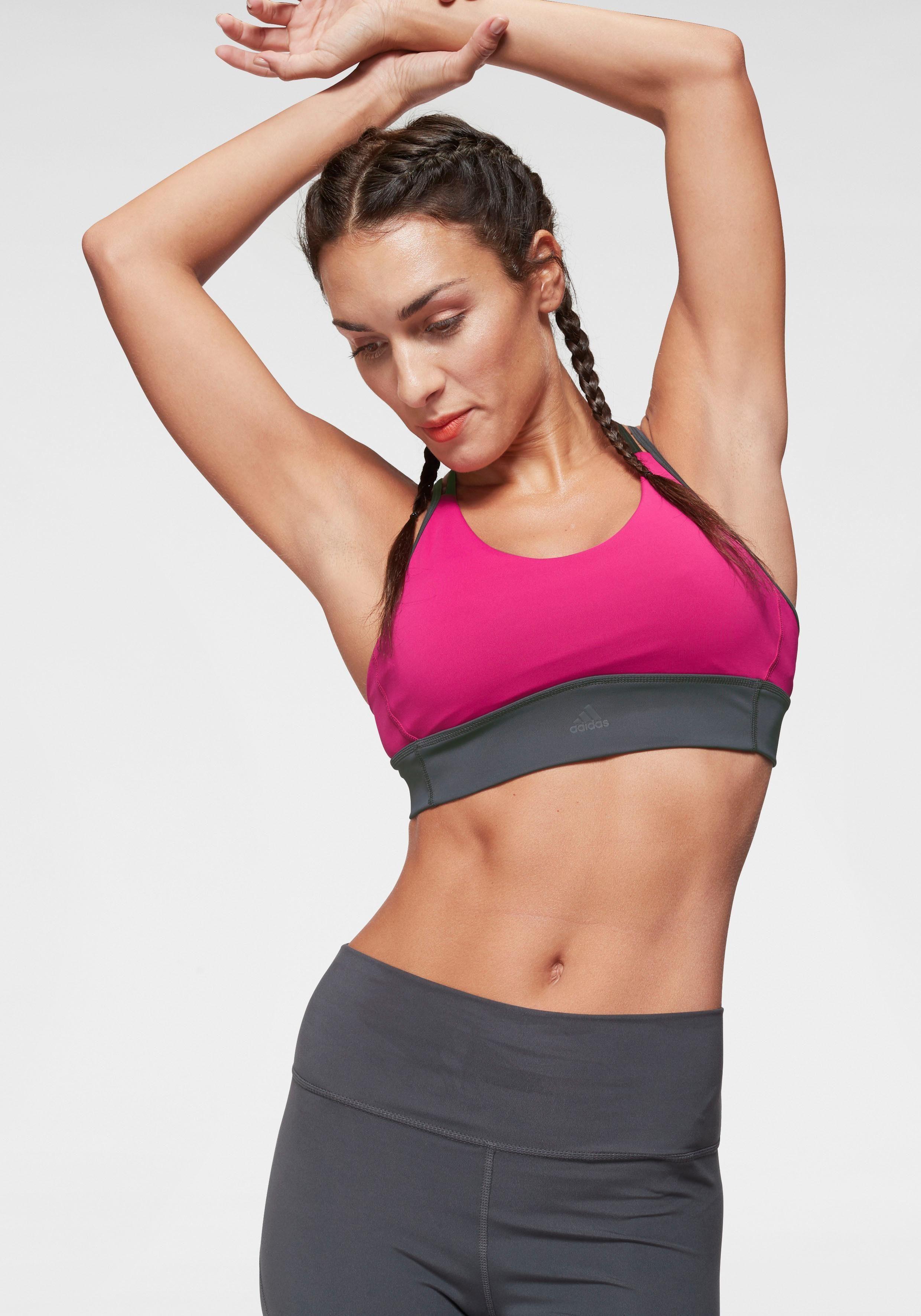 Adidas Training Design 2 Move Logo Sport-BH Damen grau