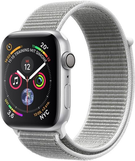 Apple Series 4 GPS, Aluminiumgehäuse mit Sportarmband Loop 40mm Watch (Watch OS 5)