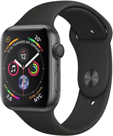 Apple Series 4 GPS, Aluminiumgehäuse mit Sportarmband 40mm Watch (Watch OS 5)