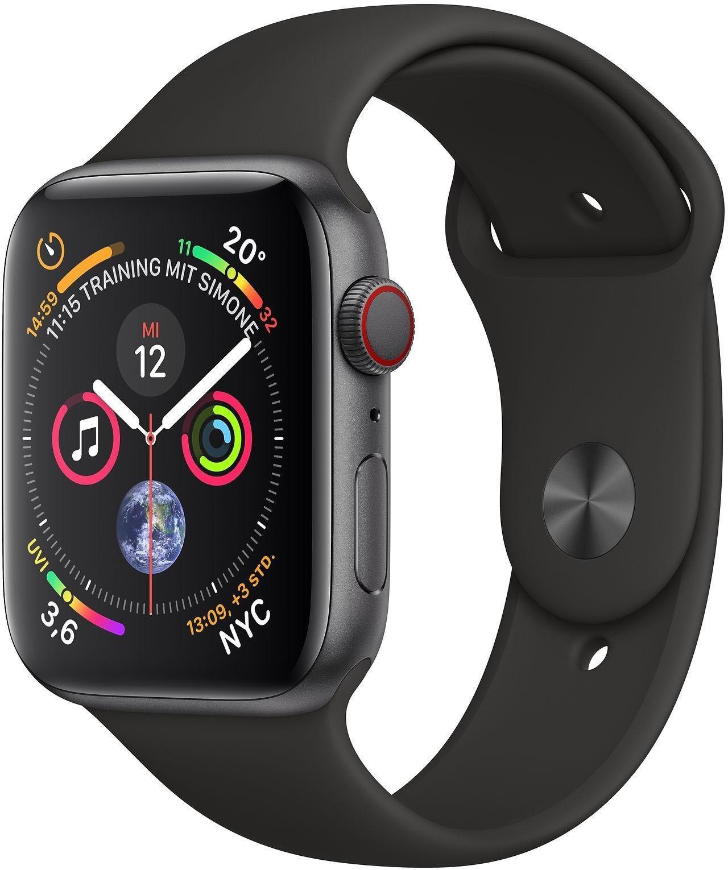 Series 4 GPS + Cellular, Aluminiumgehäuse mit Sportarmband 40mm Watch (watchOS 5)