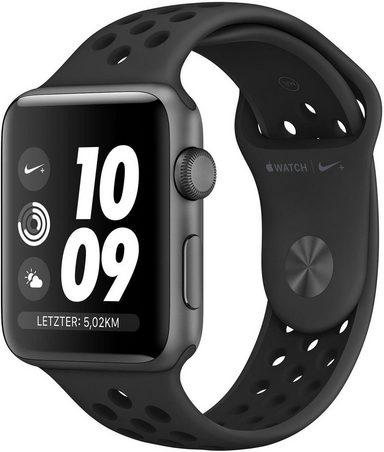 Apple Nike+ Series 3 GPS, Aluminiumgehäuse mit Nike Sportamband 38mm Watch (Watch OS 5)