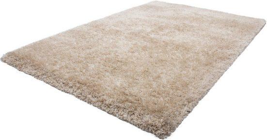 Hochflor-Teppich »Monaco«, LALEE, rechteckig, Höhe 65 mm, Besonders weich durch Microfaser