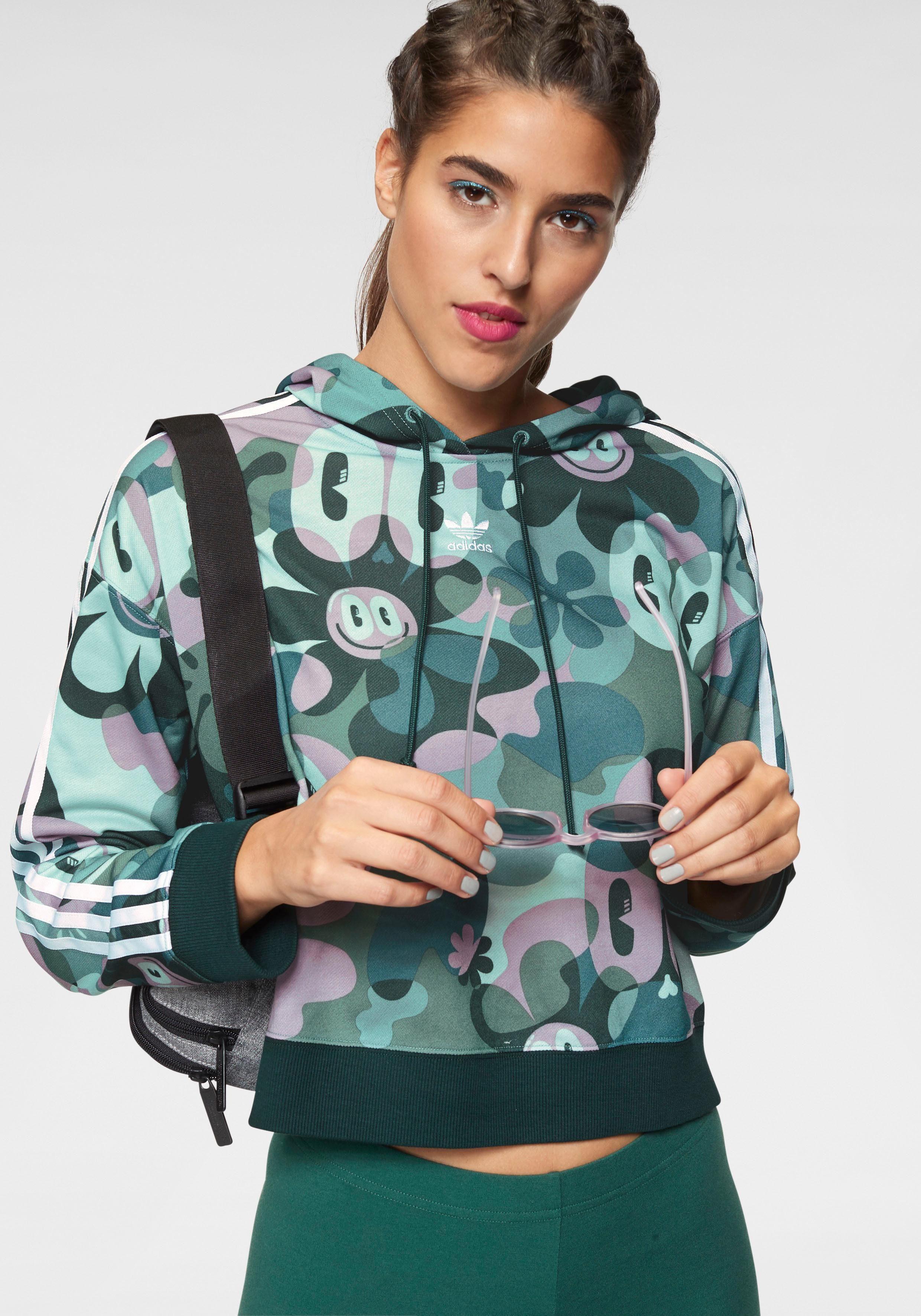 adidas Originals Kapuzensweatshirt »CROPPED HOODIE«, Kleine Logostickerei online kaufen | OTTO
