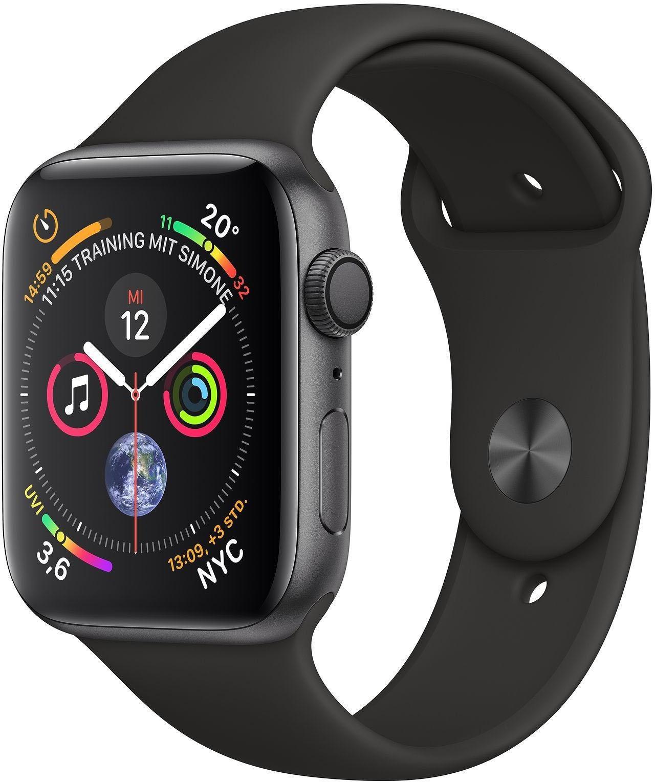 Series 4 GPS, Aluminiumgehäuse mit Sportarmband 44mm Watch (watchOS 5)