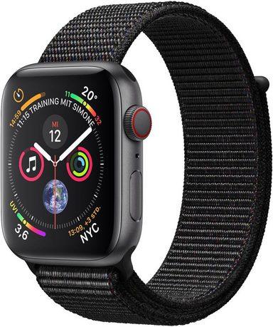 Apple Series 4 GPS + Cellular, Aluminiumgehäuse mit Sportarmband Loop 44mm Watch (Watch OS 5)