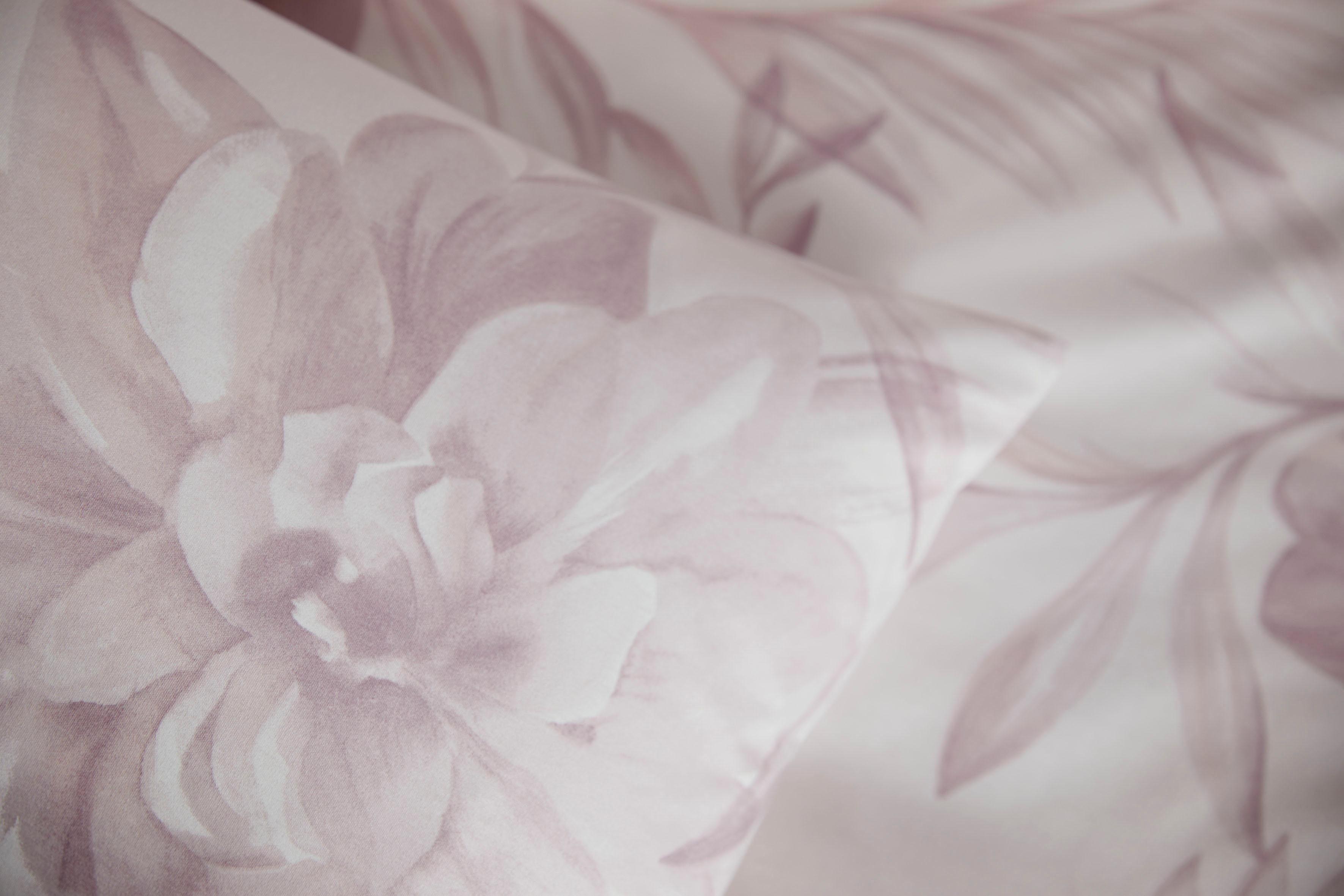 Bettwäsche »Blossom Shine«, Elegante, mit Blütenmotiv