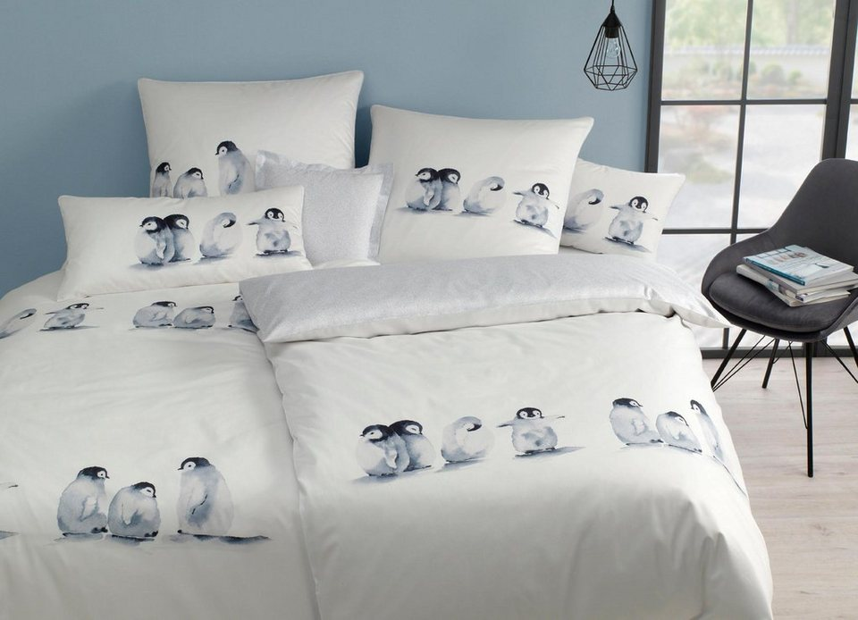bettw sche pinguin life elegante mit pinguinmotiv online kaufen otto. Black Bedroom Furniture Sets. Home Design Ideas