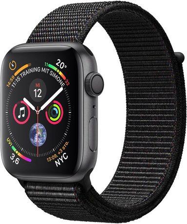 Apple Series 4 GPS, Aluminiumgehäuse mit Sportarmband Loop 40mm Watch (Watch OS 5)