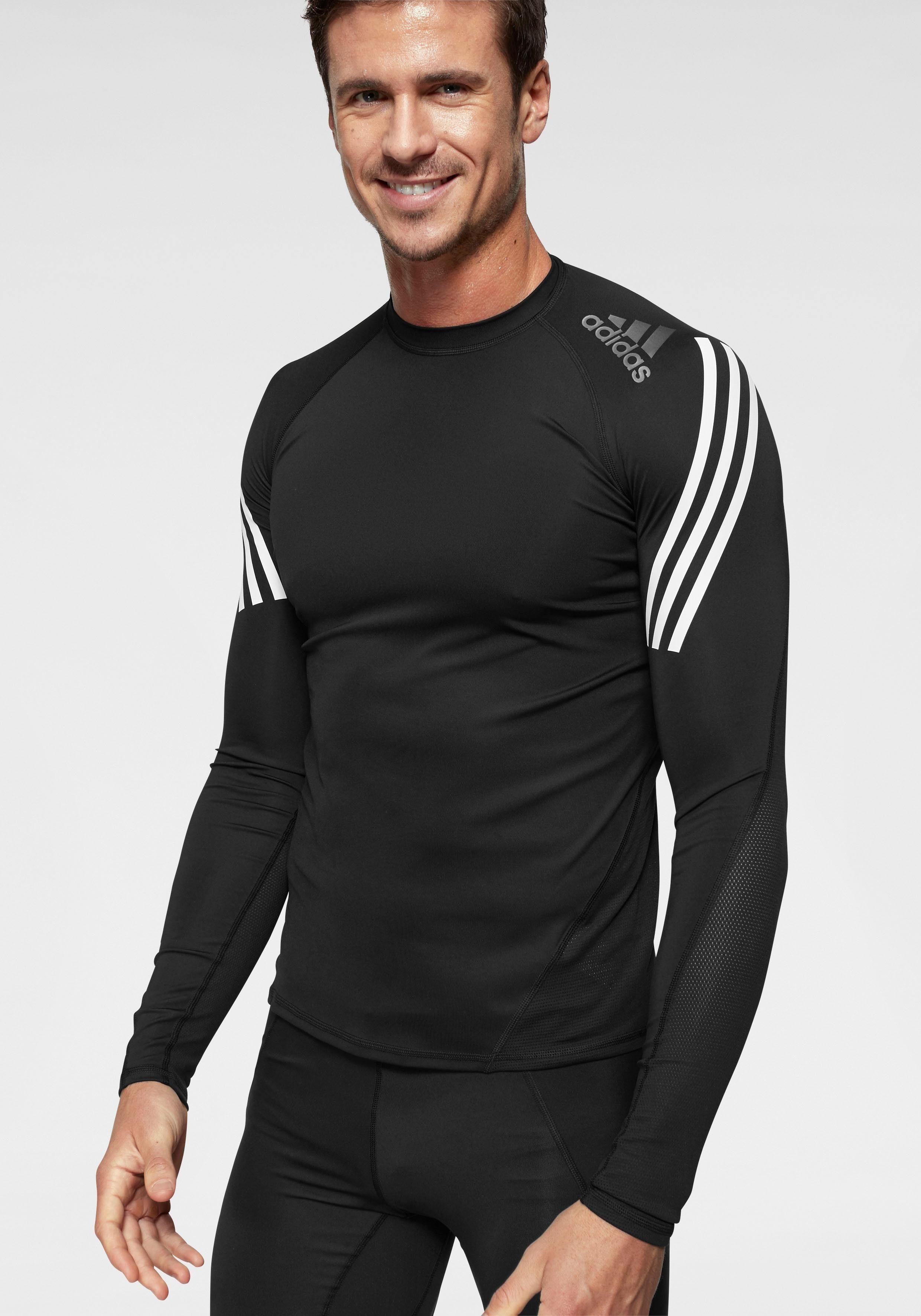 adidas Performance Langarmshirt »ALPHASKIN SPORT LEVEL LONGSLEEVE 3 STRIPES« online kaufen | OTTO