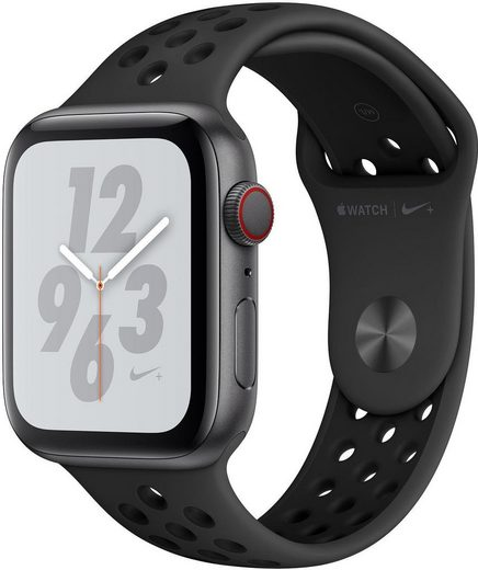 Apple Nike+ Series 4 GPS + Cellular, Aluminiumgehäuse mit Nike Sportarmband, 40mm Watch (Watch OS 5)