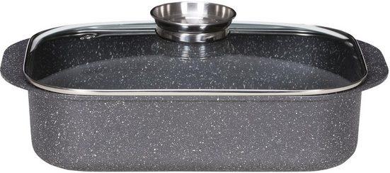 Krüger Bräter »Dallas«, Aluminiumguss, (1-tlg), Granit-Optik, Induktion