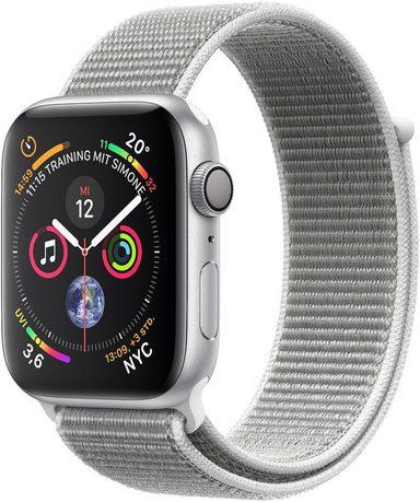 Apple Series 4 GPS, Aluminiumgehäuse mit Sportarmband Loop 44mm Watch (Watch OS 5)