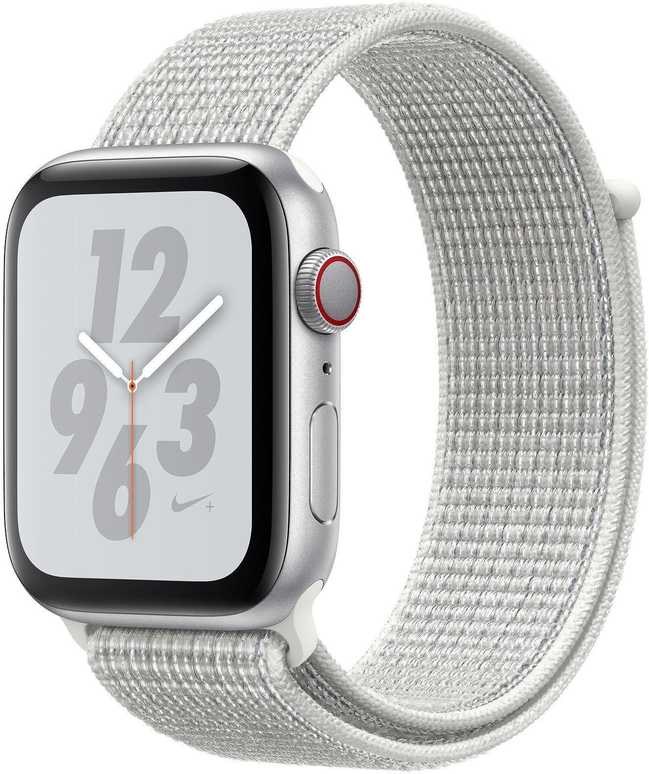 Nike+ Series 4 GPS + Cellular, Aluminiumgehäuse mit Nike Sportarmband Loop 44mm Watch (watchOS 5)