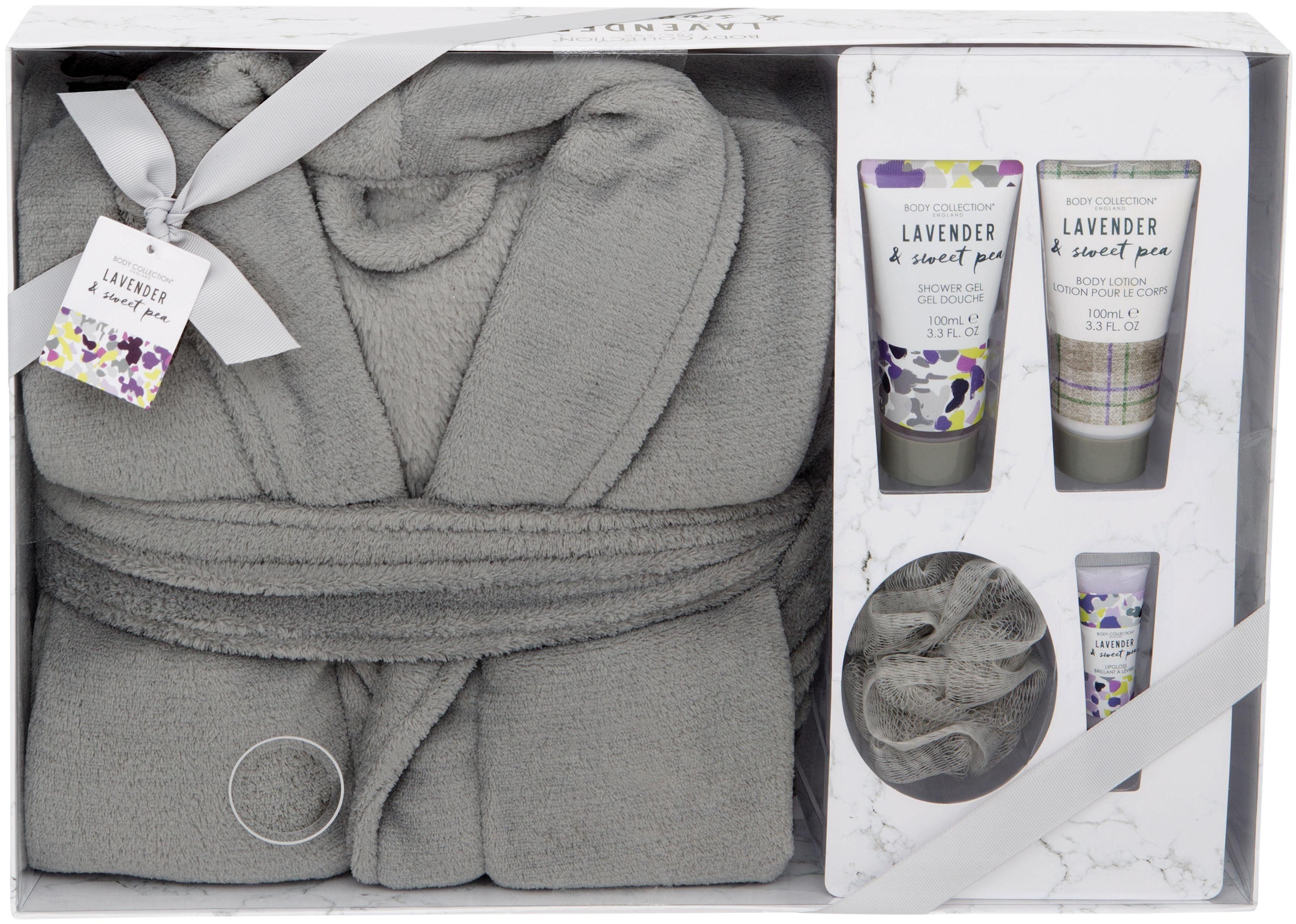 Body Collection, »Lavender & Sweet Pea Bath Robe Set«, Körperpflege-Set (5-tlg. )