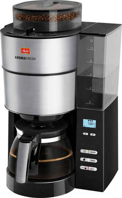 Melitta Kaffeemaschine mit Mahlwerk AromaFresh 1021-01, Papierfilter 1x4
