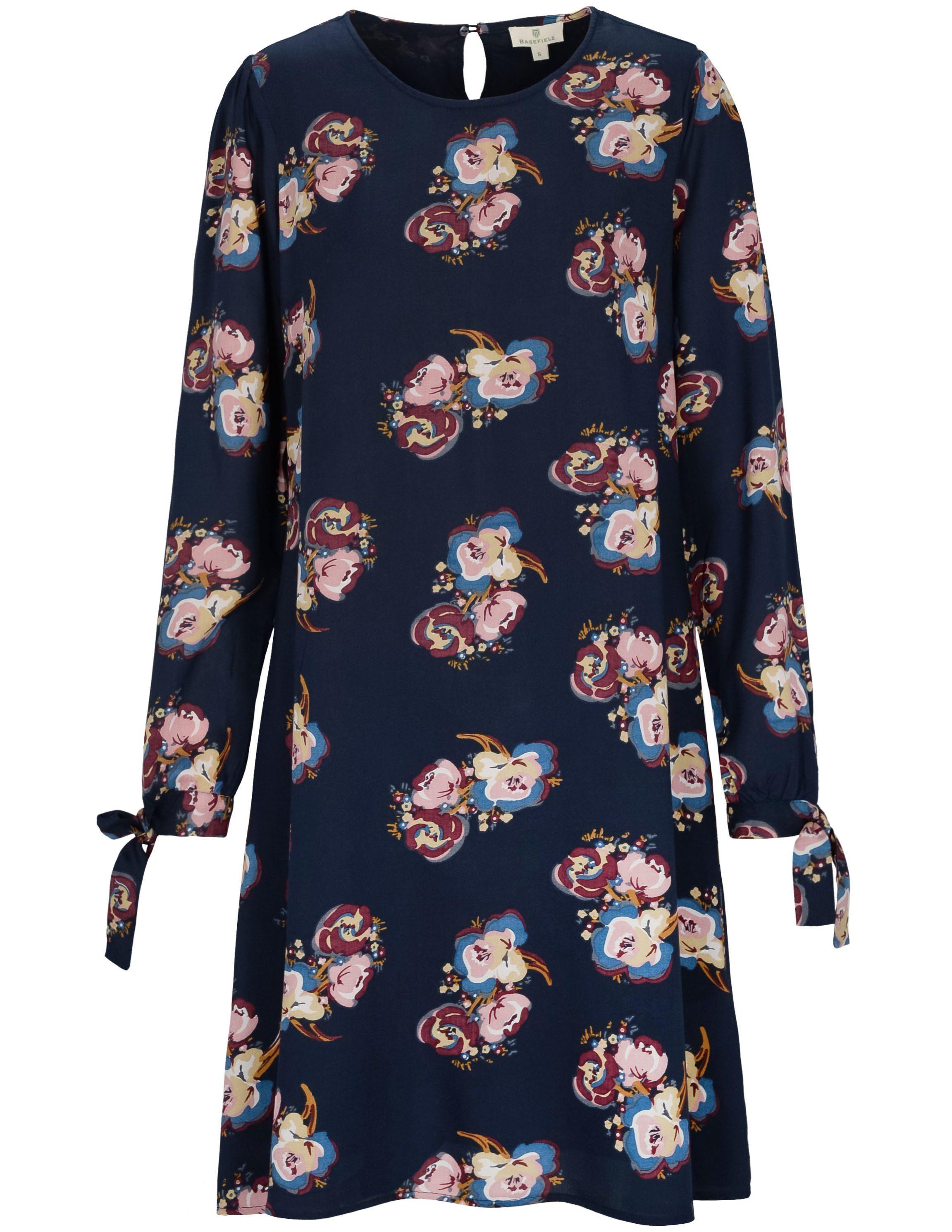 BASEFIELD A-Linien-Kleid mit Binde-Details am Ärmelsaum