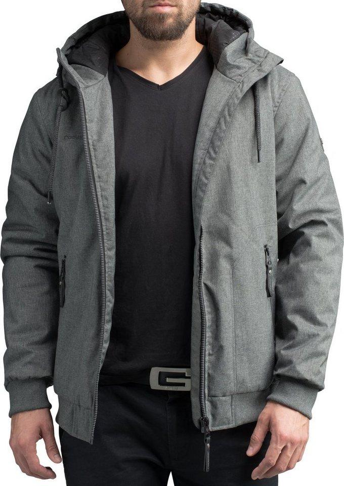 Herren Ragwear Winterjacke Stewie stylische Herren Outdoorjacke mit großer Kapuze schwarz   04251490179561