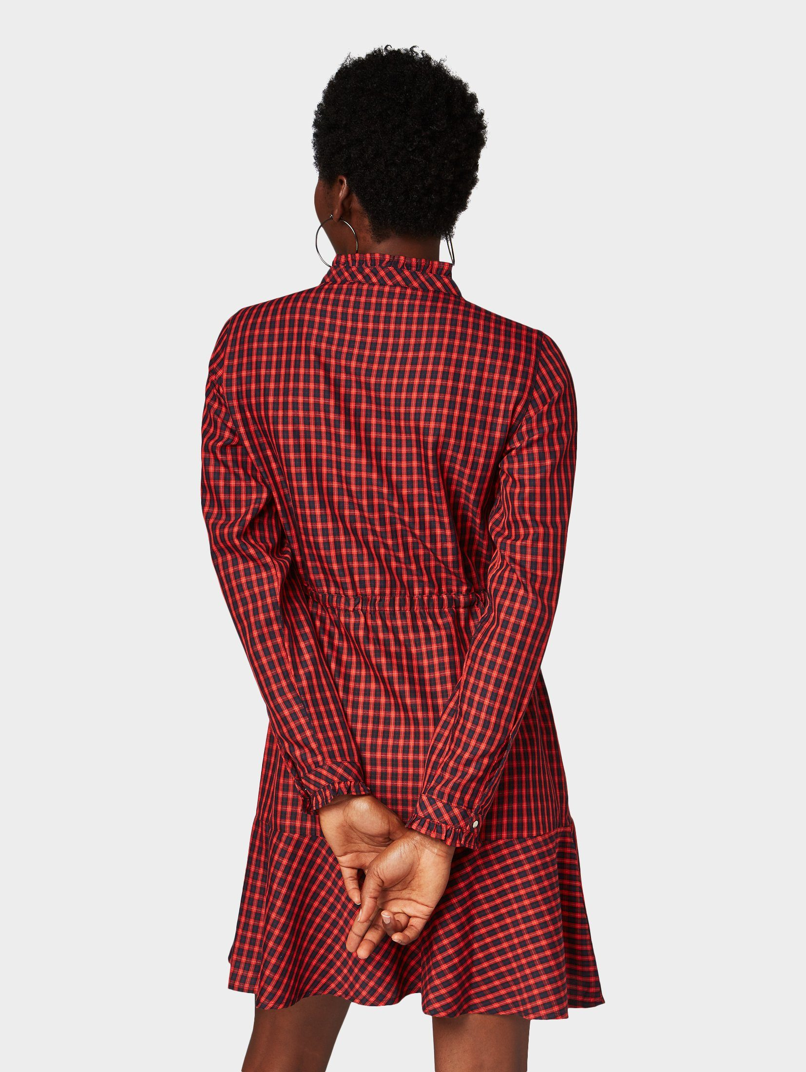 Tom Karokleid Tailor »kleid Denim Karomuster« Mit 9EHY2WDI