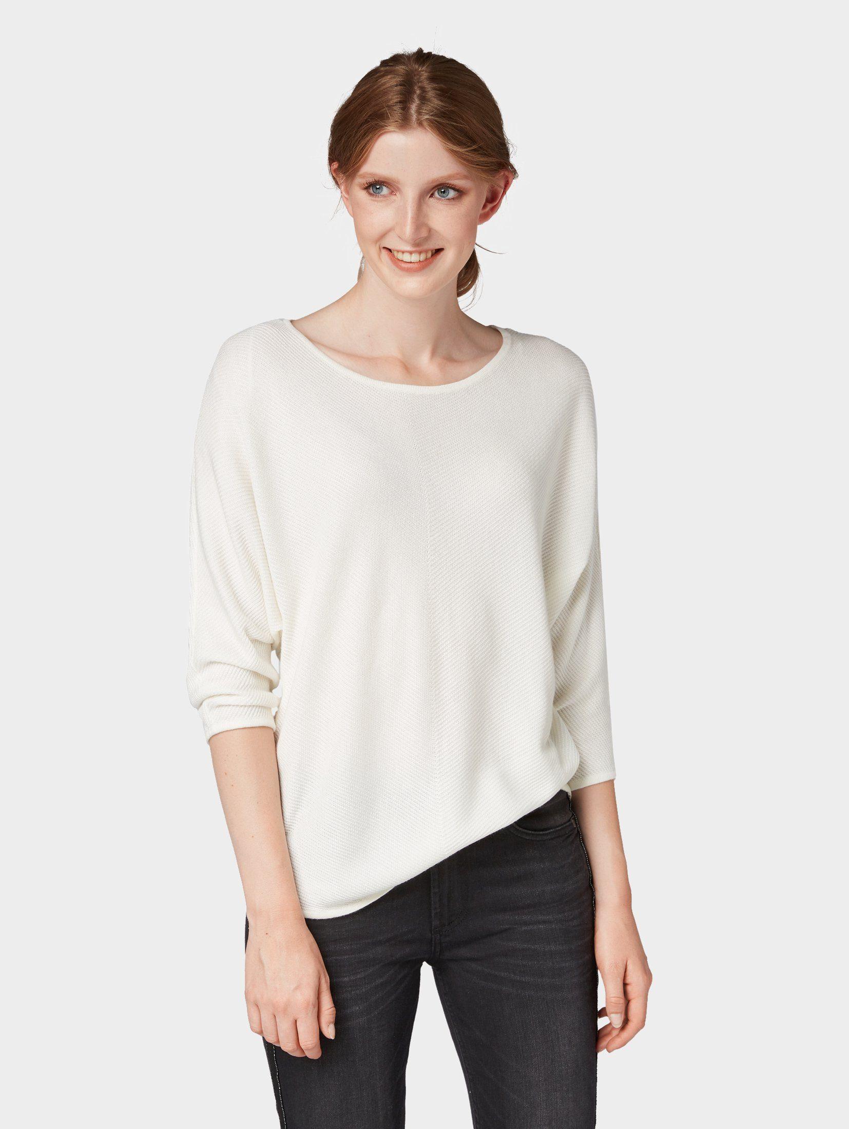 Tom Tailor Rundhalspullover »Schlichter Pullover«, Easy chevron sweater online kaufen | OTTO