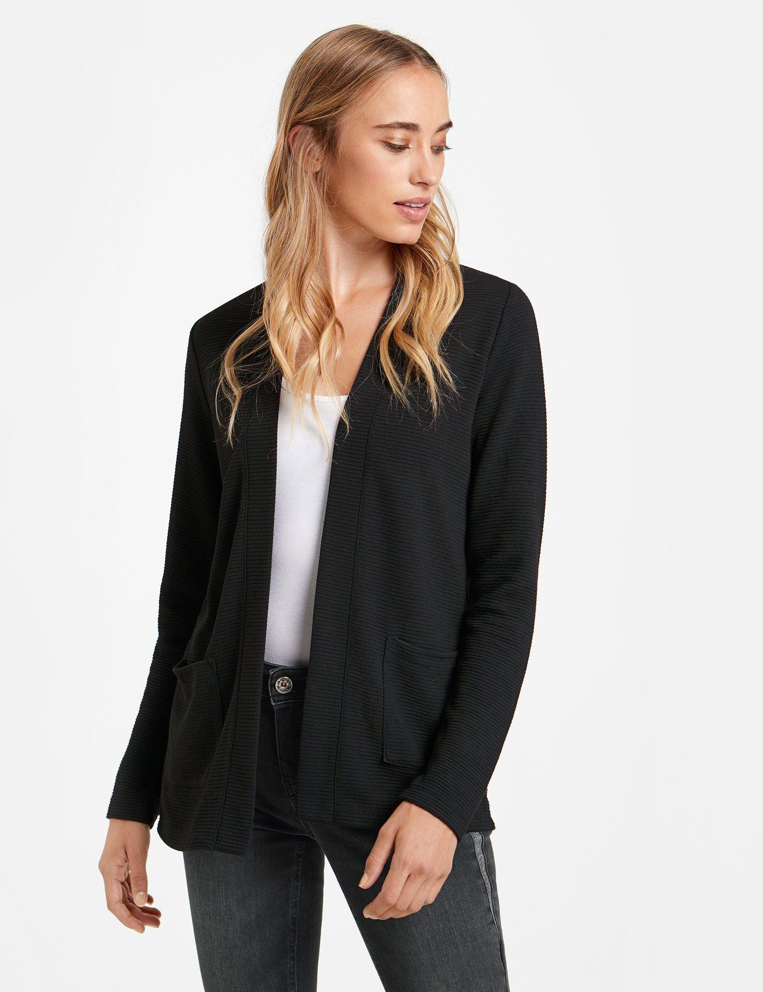 TAIFUN Jacke Gewirke »Shirtjacke mit Streifen-Struktur«
