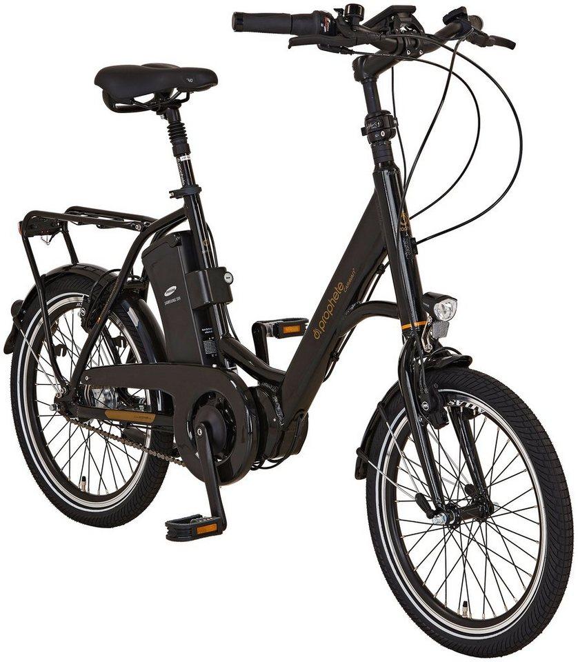 Prophete E-Bike City »Caravan e«, 20 Zoll, 7 Gang, Mittelmotor, 396 Wh