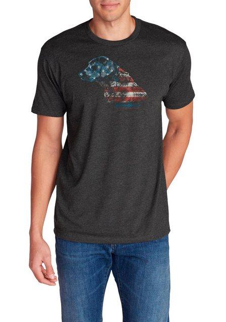 Herren Eddie Bauer T-Shirt T-Shirt – Flagrador Retriever schwarz   04057682384177
