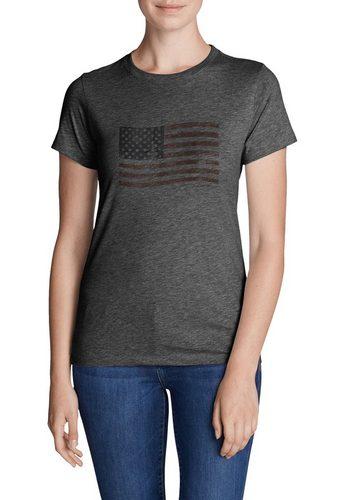 Damen Eddie Bauer T-Shirt T-Shirt – Classic Flag schwarz | 04057682383910