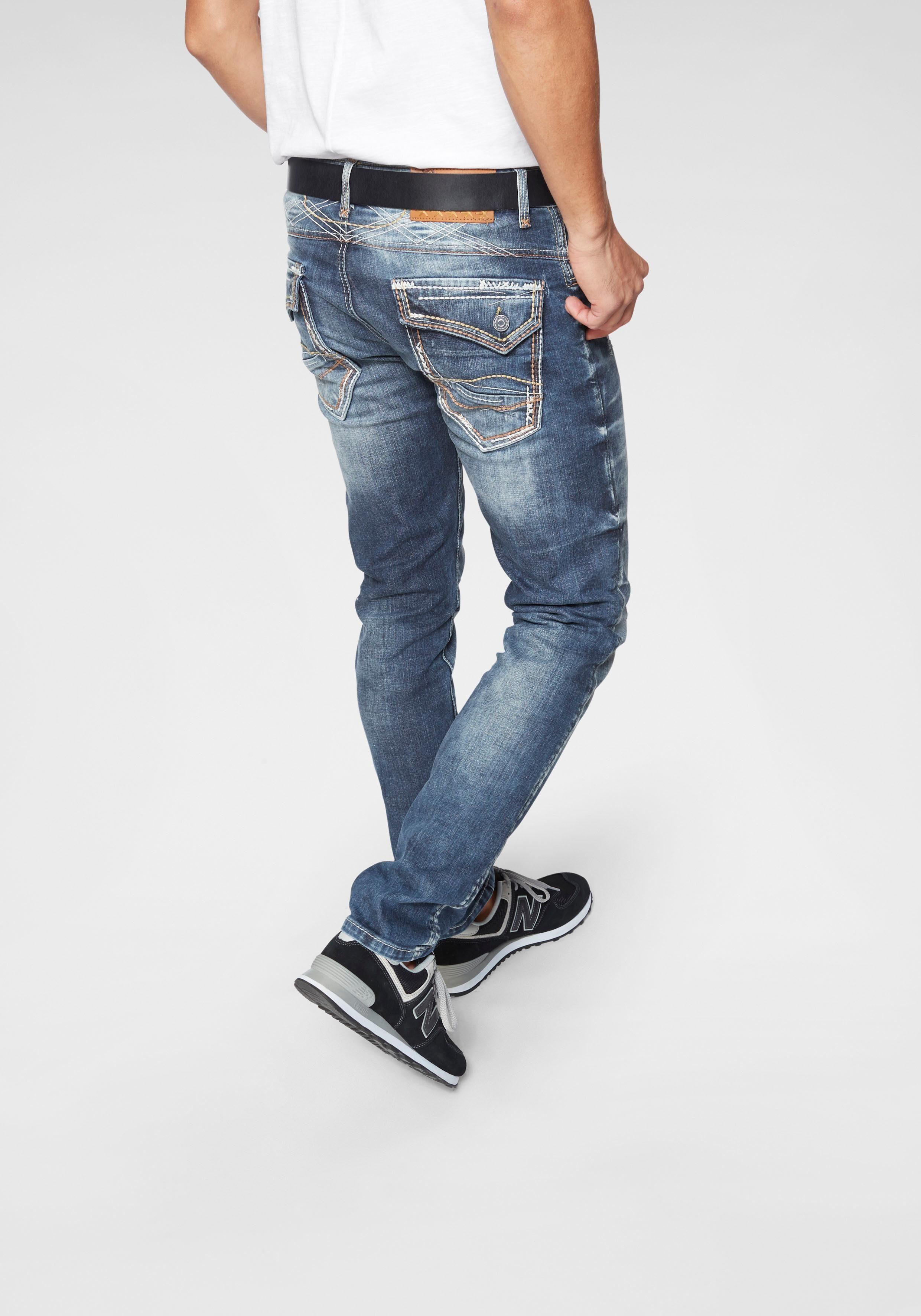 Cipo & Baxx Slim-fit-Jeans »Tricolore«