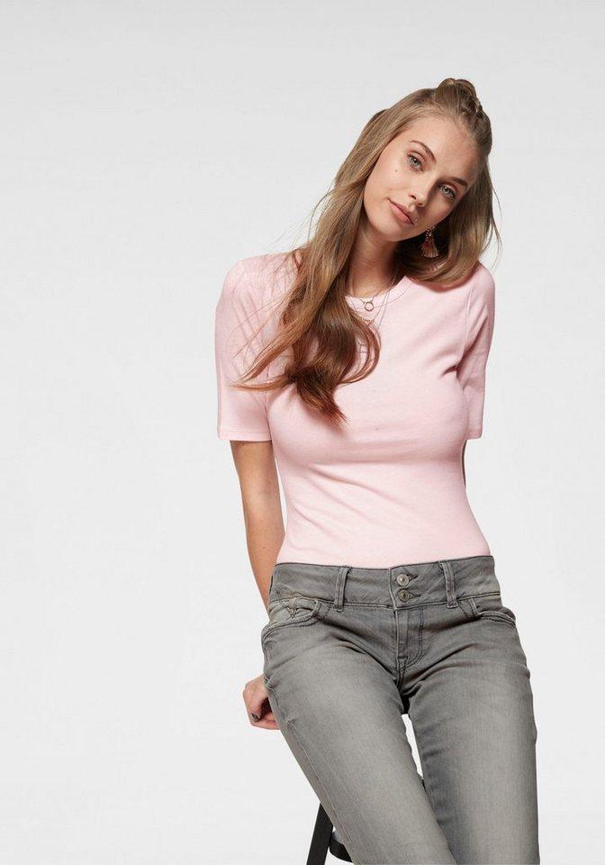 AJC Shirtbody uni aus elastischer, formstabiler Qualität | Unterwäsche & Reizwäsche > Bodies & Corsagen > Shirtbodys | Rosa | Baumwolle | AJC